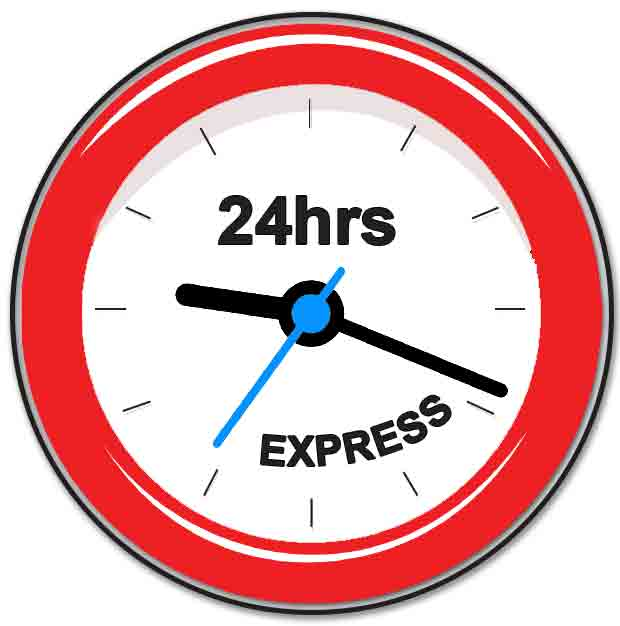 FREE 24HRS RUSH SERVICE!